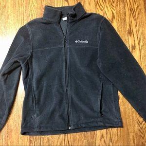 Men's Columbia black fleece full zip jacket size M